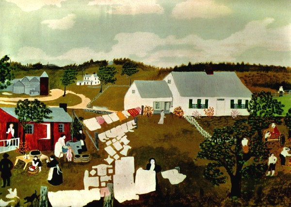 Wash Day by Grandma Moses